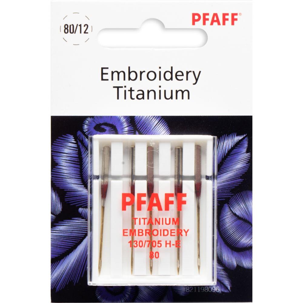 Pfaff Sticknadeln Titanium Stärke 80, hohe Abriebfestigkeit