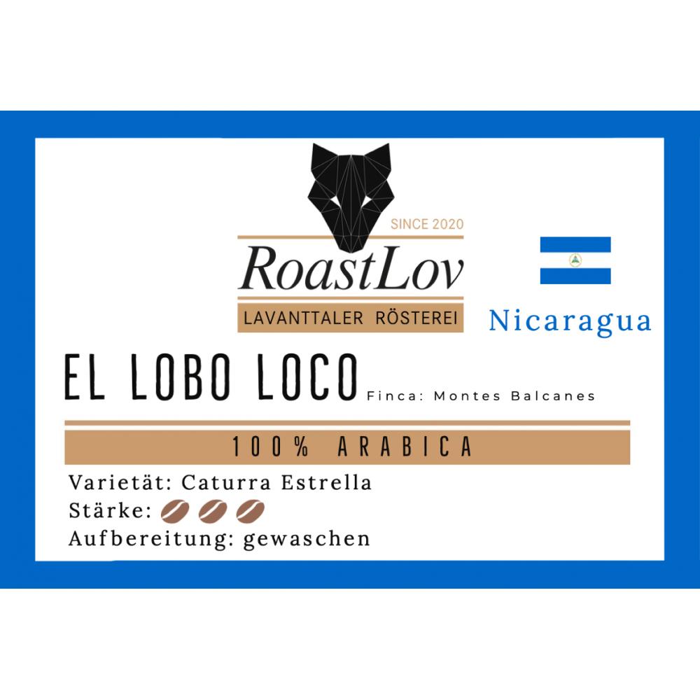Kaffee Nicaragua El Lobo Loco 125g